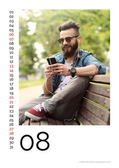 Calendar Design Big Photo Portrait