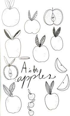 Holly Court Illustration | A is for Apples   #illustration #moleskine…