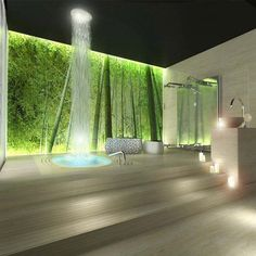 ceiling waterfall