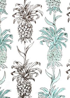 "Tropical Print - Pattern Name: Madrigal Aqua - 54"" wide - 100%CO"