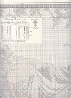Nora Corbett_Sleeping Beauty - 3/7 Cross Stitch Fairy, Counted Cross Stitch Patterns, Cross Stitch Charts, Cross Stitch Designs, Cross Stitch Needles, Victorian Dollhouse, Bargello, Needlepoint, Needlework