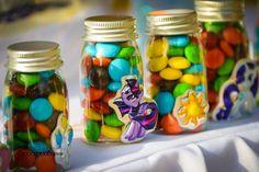 Mini M&M filled favor jars from a My Little Pony Birthday Party via Kara's Party Ideas   KarasPartyIdeas.com (30)