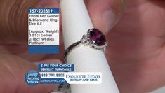 Tune into the most exquisite jewelry on television 24/7! New jewelry arriving daily – Blue Sapphire Necklaces, Red Ruby Rings, Green Emerald Earrings, Yellow Diamond Bracelets and more stunning jewelry at Gem Shopping Network. Call in for pricing.   Item #157-202819 Garnet And Diamond Ring, Garnet Rings, Garnet Gemstone, Blue Sapphire Necklace, Emerald Green Earrings, Ruby Rings, Diamond Bracelets, Red Garnet, Necklaces