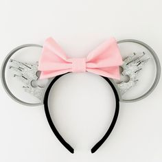 Castle Silhouette Mouse Ears with Custom Bow
