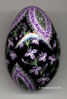Russian Easter Pysanka Egg.