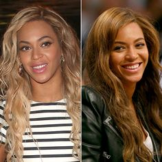 Bey is back to brunette. I'll stick with my blonde, but I like the warmth of her shade.