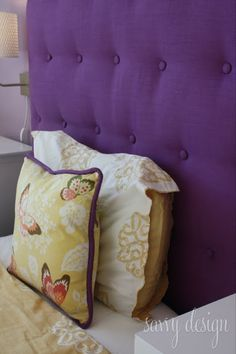 How To: Upholstered Tufted Headboard con't | from Living Savvy