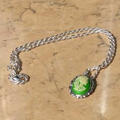 Green Lady Death Cameo necklace | Gothic jewellery | Jewels & Finery UK