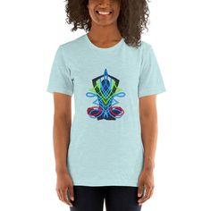Energy Flow Yoga - Short-Sleeve Unisex T-Shirt - Heather Prism Ice Blue / XL