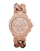 Michael Kors Ladies Rose Gold Camille On A Twist bracelet
