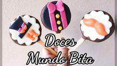 PERSONALIZANDO DOCES MUNDO BITA - PIRULITO DE BOLACHA PERSONALIZADO #somos31k - YouTube Chocolate, Oreo, Biscuits, Sugar, Cookies, Desserts, Diy, Youtube, Birthday Cakes