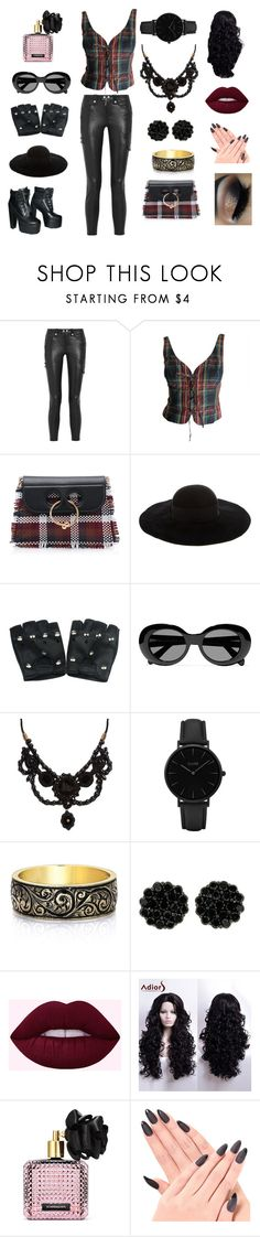 """""""How to change your tune"""" by magicisinyourheart ❤ liked on Polyvore featuring Frame, Moschino, Prophecy, J.W. Anderson, Eugenia Kim, Acne Studios, Gucci, CLUSE and Victoria's Secret"""