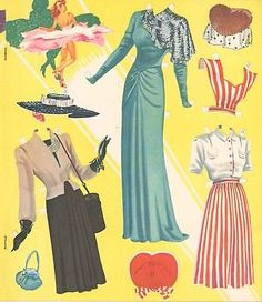 VINTGE-UNCUT-1948-Lovely-Lady-PAPER-DOLL-NICE-LASER-REPRODUCTIN-LOP-NO1-FREESH