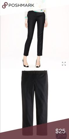"""J.Crew Café capri in wool Introducing our wildly flattering wool café capri—now your favorite perfect-fitting pant can be worn all year long. Crafted in lightweight wool and a collection of can't-miss colors, it's the one piece you'll need to anchor your wardrobe for fall (and beyond).  True to size. City fit—our lowest rise. Sits just above hip. Fitted through hip and thigh, with a skinny, cropped leg. Wool. 27"""" inseam. Cuffed. J. Crew Pants Trousers"""