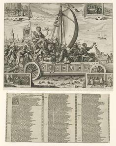 Flora's Mallewagen, 1637, toegeschreven aan Crispijn van de Passe (II), 1637