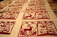 xmas lino print | Tags: Christmas , Christmas cards , lino cuts , printing Christmas Crafts, Christmas Print, Christmas Design, Christmas Christmas, Christmas Cards To Make, Handmade Christmas, Lino Art, Linoleum Block Printing, Stamp Carving