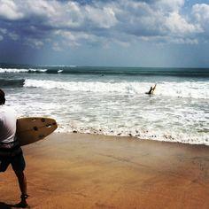 Surfers at Kuta Beach, Bali