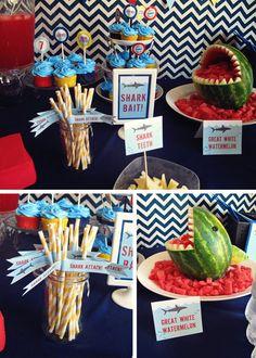 shark party love the chevron