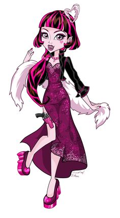 Draculaura Mafia High Monster High Illustration by Uruseline (I don't think this illustration is based on an actual doll.)
