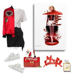 """""""Life is beautiful"""" by curlysuebabydoll ❤ liked on Polyvore featuring Marques'Almeida, T By Alexander Wang, Yves Saint Laurent, Puma and Lancôme"""