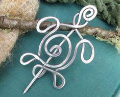 Perno di alluminio tartaruga spirale scialle sciarpa Pin