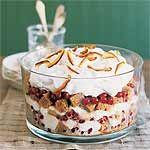 Sticky Toffee Trifle with Cranberries Recipe   MyRecipes.com