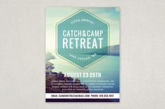 Outdoor Retreat Flyer Template - Spread the word about your next camping trip, hike, or other outside pastime with this retreat flyer. With its serene backdrop and muted colors, it reminds everyone that rest and relaxation awaits them in the great outdoors!