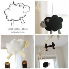 Sheep Mobile | 10 Adorable Stuffed Animals You Can DIY