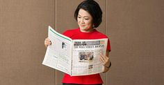 SOHO China CEO and entrepreneur Zhang Xin reading The Wall Street Journal.