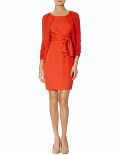 Tie Front Sheath Dress from THELIMITED.com