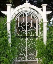 Wrought Iron Garden Gates Amazing Gates   Amazing Backyards With Iron Gate