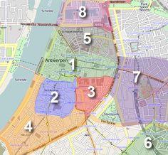 Wijken in Antwerpen - Informatie en tips - Youropi.com stadsgids Antwerpen