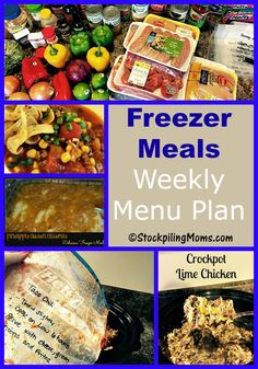 This Freezer Meals Weekly Menu Plan is perfect for a busy week to keep you from stressing over what's for dinner!