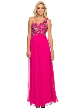 Prom Dress NX2726 with Asymmetrical Neckline