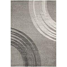 Safavieh�Porcello Rectangular Gray Geometric Woven Area Rug (Common: 4-ft x 6-ft; Actual: 4-ft x 5.58-ft)
