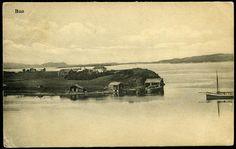 BUØ i Kolvereid Nærøy kommune Nord-Trøndelag fylke Oversikt med sjøhus på nes - meget uvanlig sted Br. 1916