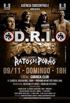 Ratos de Porão confirma show ao lado do D.R.I. em SP