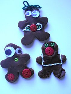 Gingerbread People Playdough
