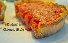 Deep Dish Chicago-Style Pizza> From Chicago, deep dish is by far the BEST pizza