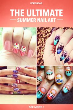 Sizzling Summer nail art that's sure to make a splash! #nailart #nails #manicure