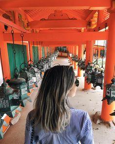As lanternas do Templo Kasuga Taisha! Mais de duas mil lanternas em volta do templo! Bem bonito!