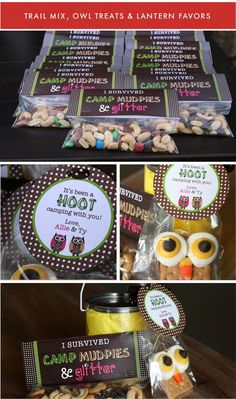 Camp Mudpies & Glitter! Cute Party Favors
