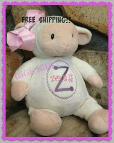 Personalised baby cubbies ideal gift for a special by 1amilne1 lambpersonalized baby gift stuffed animal birth announcement new baby gift baptismal monogrammed embroidered negle Gallery