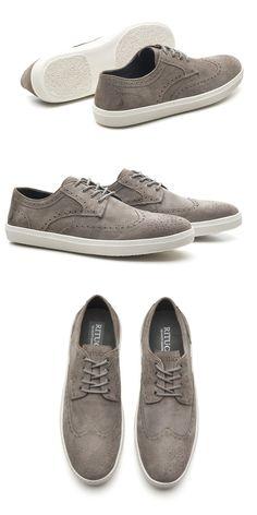 379c54fd4bf91 Sapato Masculino Brogue Cinza Maui Kite da Ritucci - são mais de 80 modelos  exclusivos na