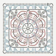 Grannysquare from delicadezabogspot.com  #crochetlovefrom #haken #crochet…