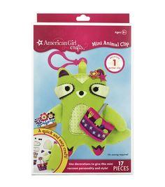 American Girl Mini Animal Clip Kit-Raccoon