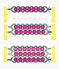 Free pattern for bracelet Snow