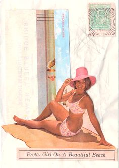 Postcard Beautiful Beaches, Pretty Girls, Disney Characters, Fictional Characters, Disney Princess, Illustration, Art, Art Background, Illustrations