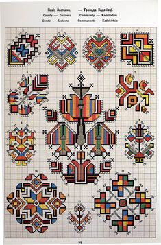 Ukrainian and Romanian embroidery of Bukovyna-Bucovina Folk Embroidery, Cross Stitch Embroidery, Embroidery Patterns, Cross Stitch Designs, Cross Stitch Patterns, Motifs Blackwork, Palestinian Embroidery, Bargello, Embroidery Techniques