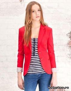 Где купить красный женский пиджак